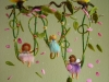 Fairies on a swing with butterflies mobile