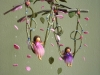 Fairies on a swing with humming birds mobile
