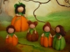 Little Pumpkins with mother