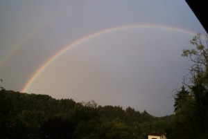 Two rainbows at once